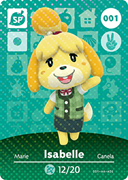 Amiibo Cards Animal Crossing Series 1 Isabelle