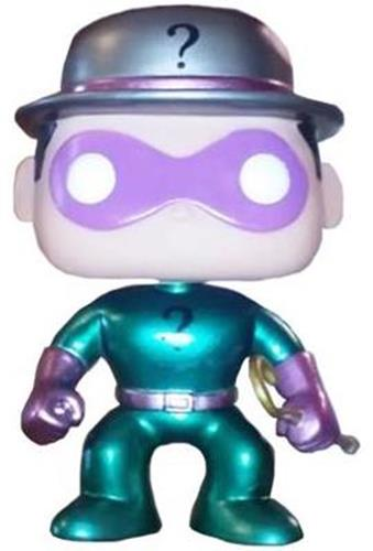 Funko Pop! Heroes The Riddler (Metallic) - CHASE Icon