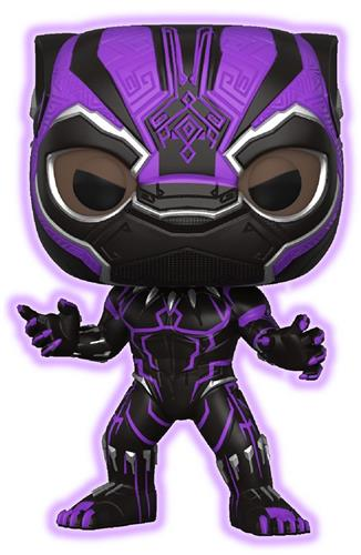 Funko Pop! Marvel Black Panther (Glow) - Purple