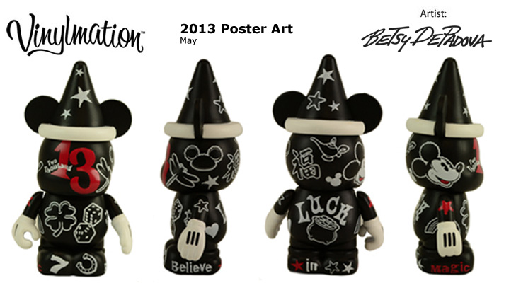 Vinylmation Open And Misc 2013 Poster Art May 'Luck'
