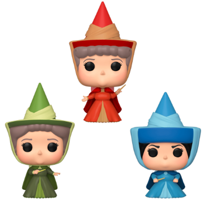 Funko Pop! Movies Fauna/ Flora/ Merryweather- 3 Pack