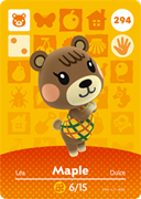 Amiibo Cards Animal Crossing Series 3 Maple