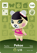 Amiibo Cards Animal Crossing Series 2 Pekoe