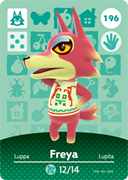 Amiibo Cards Animal Crossing Series 2 Freya