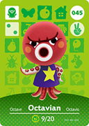 Amiibo Cards Animal Crossing Series 1 Octavian