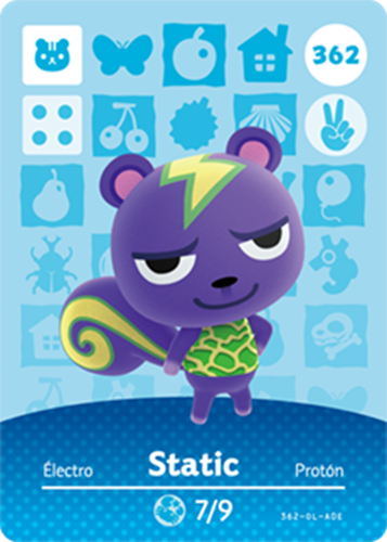 Amiibo Cards Animal Crossing Series 4 Static