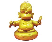 "Kid Robot Simpsons x Kidrobot Buddha Homer (7"" Gold)"