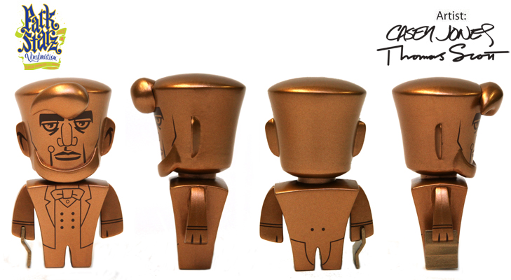 Vinylmation Open And Misc Park Starz 1 Abe Lincoln 'copper'