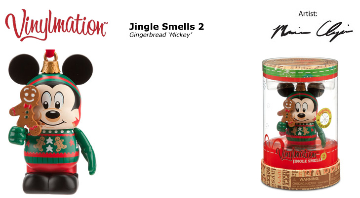 Vinylmation Open And Misc Jingle Smells 2 Gingerbread 'Mickey'