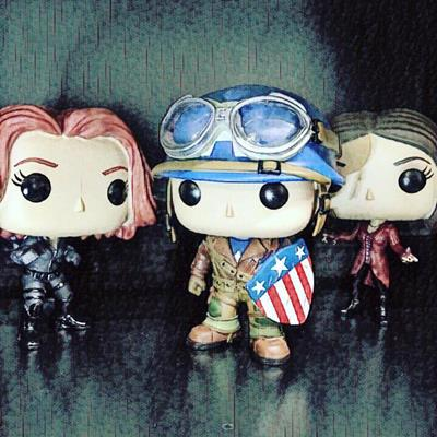 Funko Pop! Marvel Captain America (WWII) FunkoAF on Instagram.com