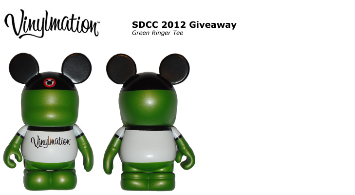 Vinylmation Open And Misc SDCC 2012 Green 'Ringer Tee'