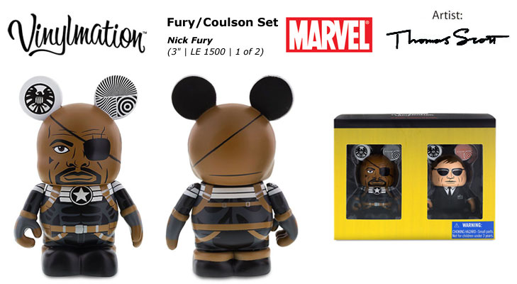 Vinylmation Open And Misc Marvel Nick Fury