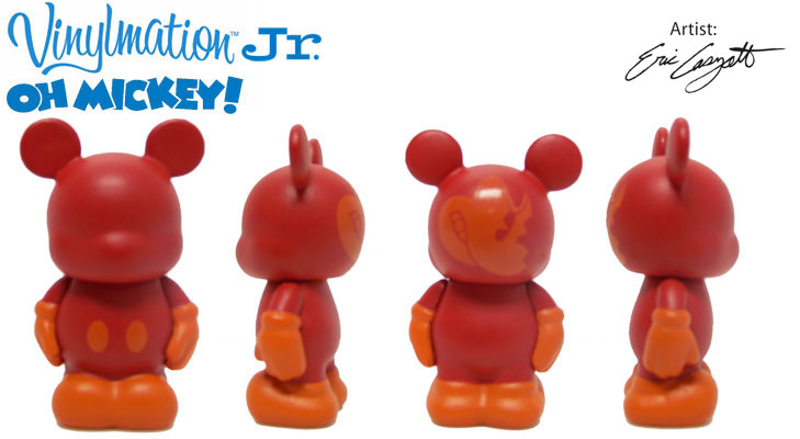 Vinylmation Open And Misc Oh Mickey! Jr Red / Orange