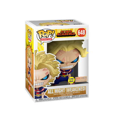 Funko Pop! Animation All Might (Weakened) (Glows in the Dark) Stock