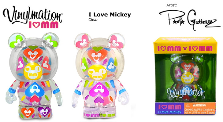Vinylmation Open And Misc I Love Mickey Clear
