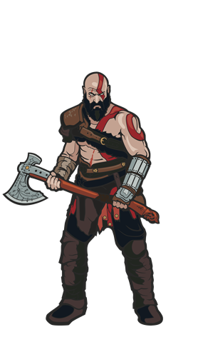 FiGPin God of War Kratos Icon