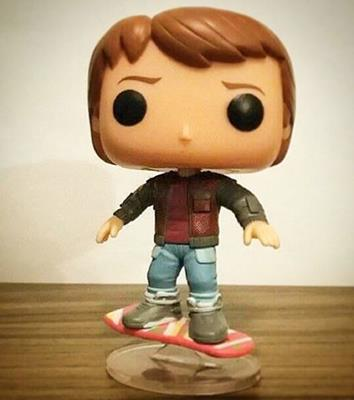 Funko Pop! Movies Marty McFly (Hoverboard) justonemorepop on instagram.com