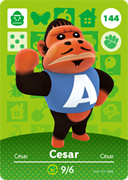 Amiibo Cards Animal Crossing Series 2 Cesar
