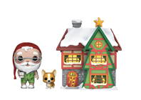 Funko Pop! Town Santa Claus & Nutmeg with House