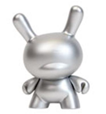 Kid Robot Special Edition Dunny 10th Anniversary (Silver) Stock