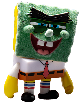 Kid Robot Art Figures Abrasive Spongebob