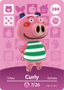 Amiibo Cards Animal Crossing Series 3 Curly