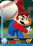 Amiibo Cards Mario Sports Superstars Mario - Baseball