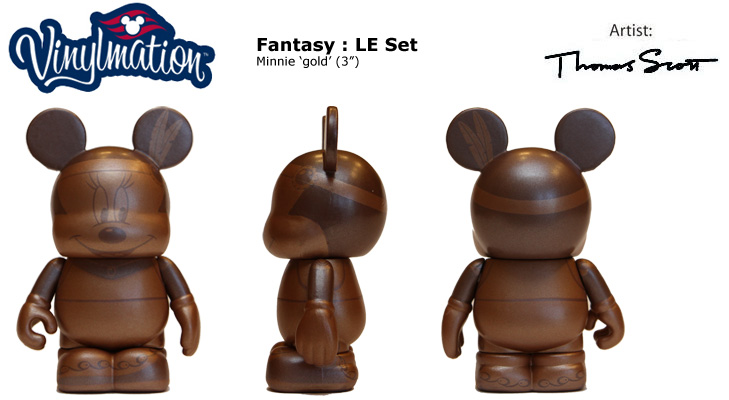 Vinylmation Open And Misc Disney Cruise Line Minnie 'gold'