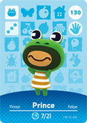 Amiibo Cards Animal Crossing Series 2 Prince