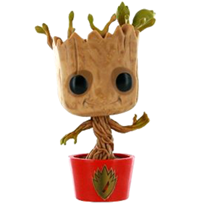 Funko Pop! Marvel Groot (Dancing) - Red Base