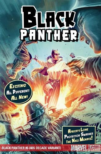 Marvel Comics Black Panther (2008 - 2010) Black Panther (2008) #6 (40S DECADE VARIANT) Stock