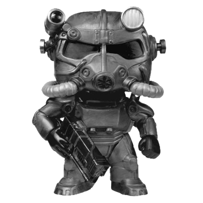 Funko Pop! Games Power Armor (Black & White)