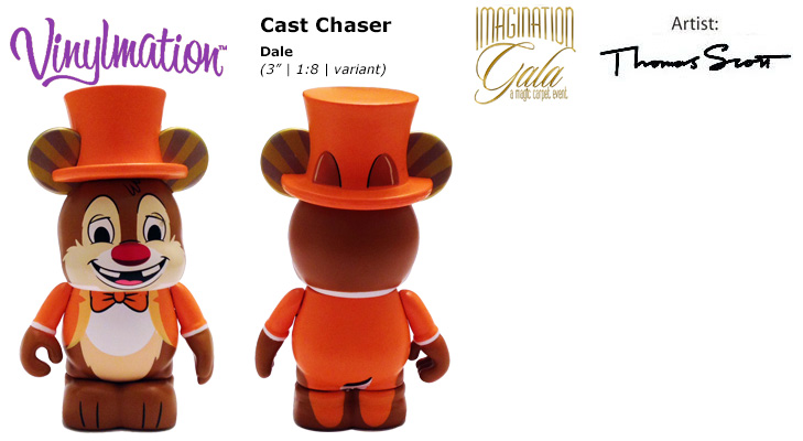 Vinylmation Open And Misc Imagination Gala Cast Chaser Dale - orange