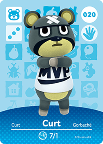 Amiibo Cards Animal Crossing Series 1 Curt