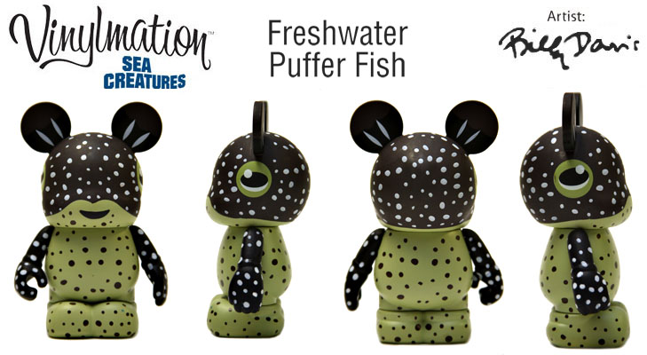 Vinylmation Open And Misc Sea Creatures Freshwater Puffer Fish