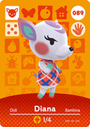 Amiibo Cards Animal Crossing Series 1 Diana