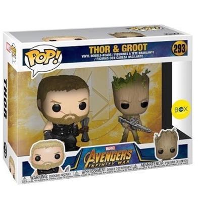 Funko Pop! Marvel Thor and Groot Stock