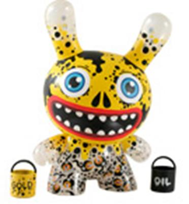 "Kid Robot 8"" Dunnys Gold Oil Slick"