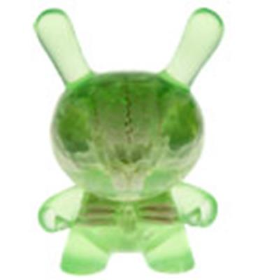 Kid Robot Special Edition Dunny Green & Bone Infected Stock