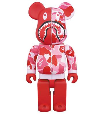 Be@rbrick Bape Camo Shark (Pink) 1000%