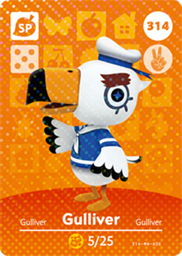 Amiibo Cards Animal Crossing Series 4 Gulliver