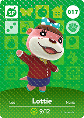 Amiibo Cards Animal Crossing Series 1 Lottie