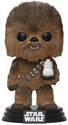 Funko Pop! Star Wars Chewbacca (w/ Porg) - Flocked