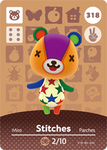 Amiibo Cards Animal Crossing Series 4 Stitches