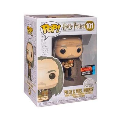 Funko Pop! Harry Potter Filch with Mrs. Norris Stock