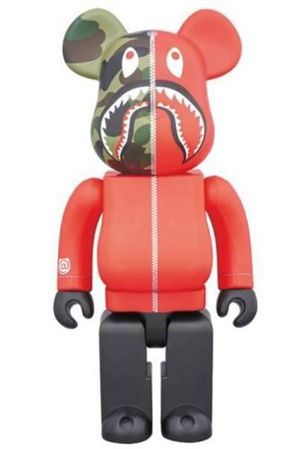 Be@rbrick Bape 1st Camo Shark (Red) 1000%