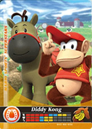 Amiibo Cards Mario Sports Superstars Diddy Kong - Horse Racing Stock Thumb