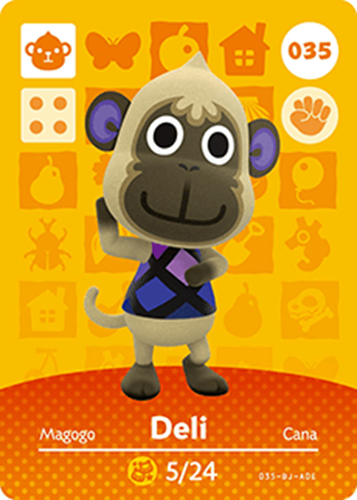 Amiibo Cards Animal Crossing Series 1 Deli