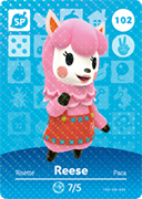 Amiibo Cards Animal Crossing Series 2 Reese