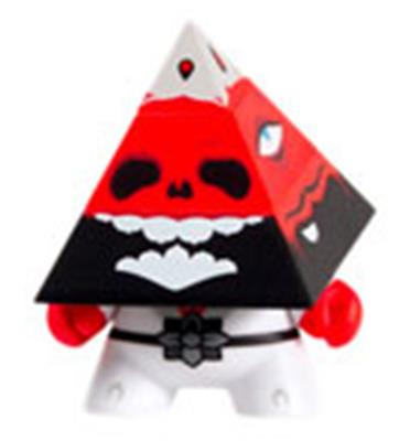 Kid Robot Special Edition Dunny Pyramidum (Red) Stock